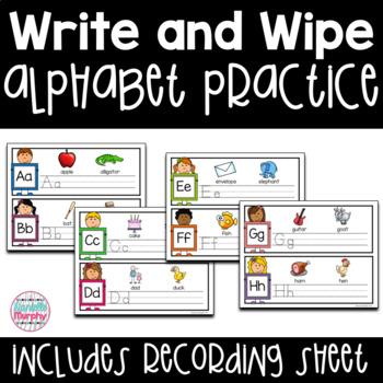 Alphabet Practice--Write and Wipe!