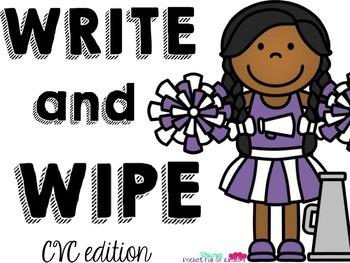 Write and Wipe {CVC Freebie}