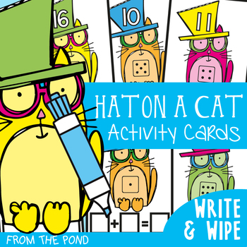 Math Center - Hat on a Cat - Counting On - Addition
