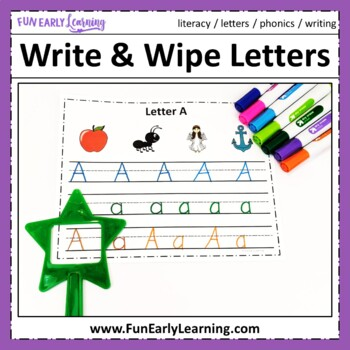 Write and Wipe Letters - Letter Identification, Letter Sou
