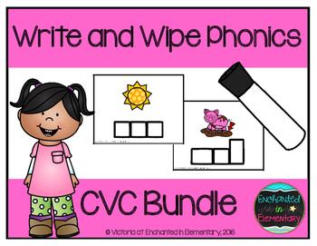 Write and Wipe Phonics: CVC Bundle