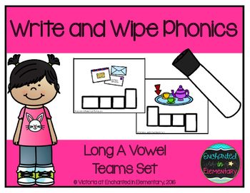 Write and Wipe Phonics: Long A Vowel Teams Set
