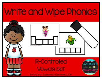 Write and Wipe Phonics: R-Controlled Vowels Set