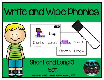 Write and Wipe Phonics: Short and Long O Set