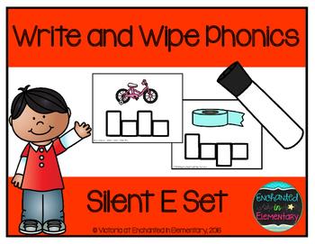 Write and Wipe Phonics: Silent e Set