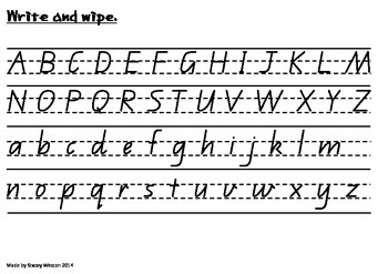 Write and Wipe - Queensland Beginner Cursive