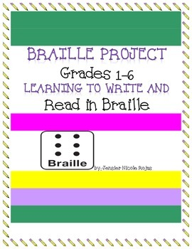 Braille Writing Project- Great with Helen Keller or Louis