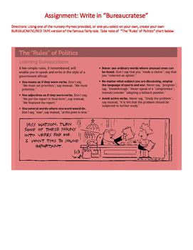 Write in Bureaucratese (A Creative Approach to Learning Ab