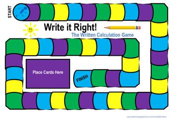 Write it Right - Written Calculation Board Game