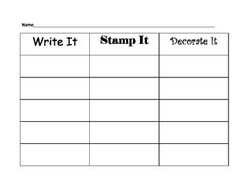 Write it! Stamp it! Decorate it!