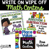 Write on Wipe off Math Centers [BUNDLE]