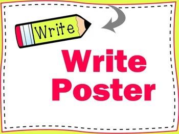 """Write"" pencil poster"