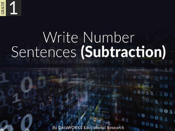 Write subtraction number sentences