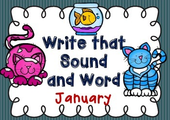 Write that Sound and Word - January { cursive handwriting }