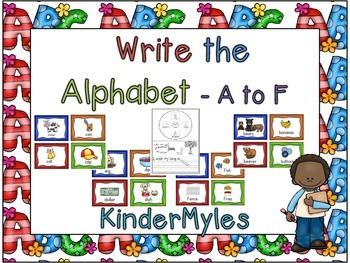 Write the Alphabet A to F