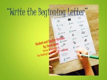 Write the Begining Letter