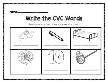 Write the CVC Words