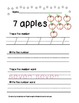 Write the Number and Number Word Packets For Pre K or K
