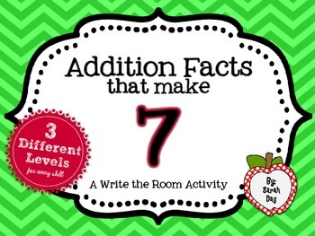Write the Room Activity:  Addition Facts that make 7 DIFFE
