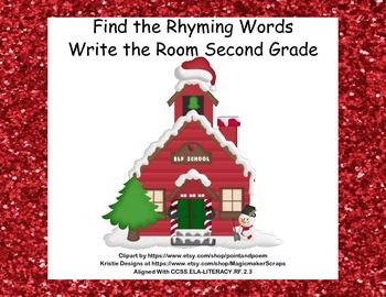 Write the Room Activity-Find the Rhyming Word-Grade 2 CCSS