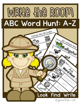 Write the Room - Alphabet Word Hunt A-Z Bundle
