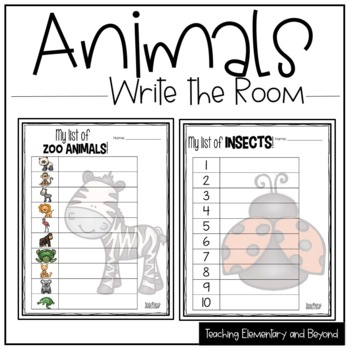 Write the Room {Animals Around The World}