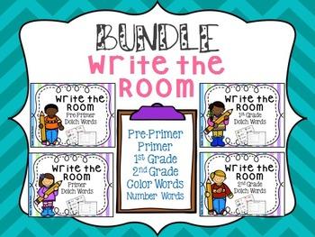 Write the Room:  BUNDLE Dolch Words (Pre Primer, Primer, 1