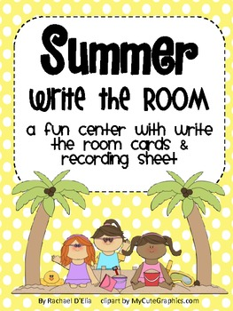 Write the Room Cards {Summer}