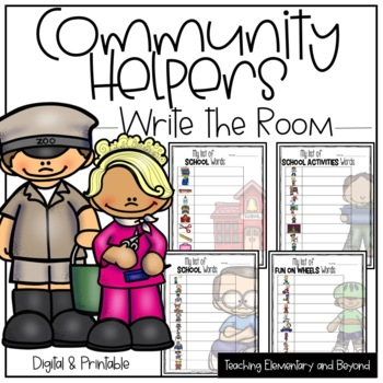 Write the Room {Community Helpers}
