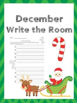 December Writing Activities / December Write the Room