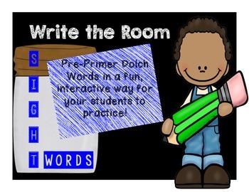 Write the Room! Dolch Pre-Primer Set
