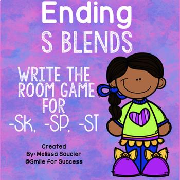 Write the Room Ending S Blends {-ST, SP, -SK}