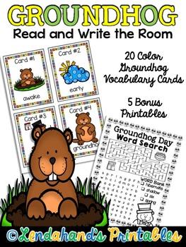 Write the Room (Groundhog Theme) by Ms. Lendahand