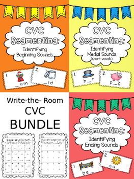 Write the Room: Identifying CVC Sounds (BUNDLE)