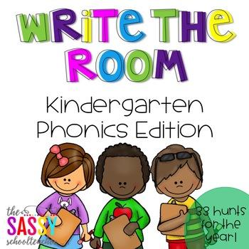 Write the Room - Kindergarten Phonics Edition (33 Hunts fo