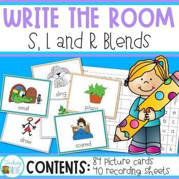 Write the Room - L, R, S blends (bundled) - Blends Word Work