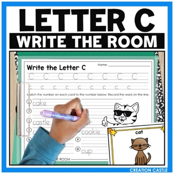 Alphabet Write the Room - Letter C