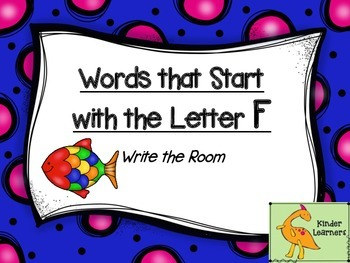 Write the Room Letter F