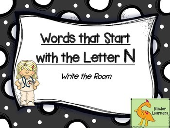 Write the Room Letter N