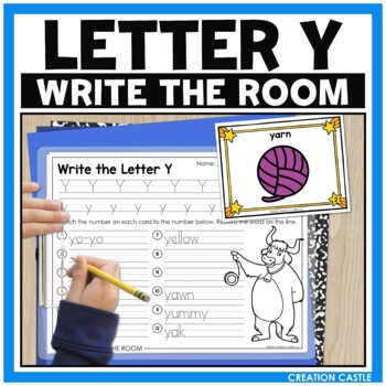 Alphabet Write the Room - Letter Y