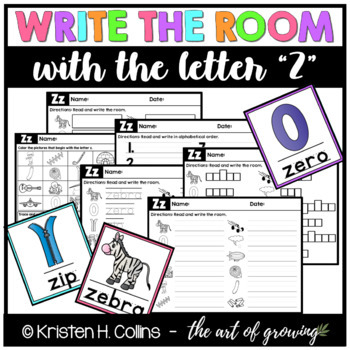 Write the Room - Letter Z