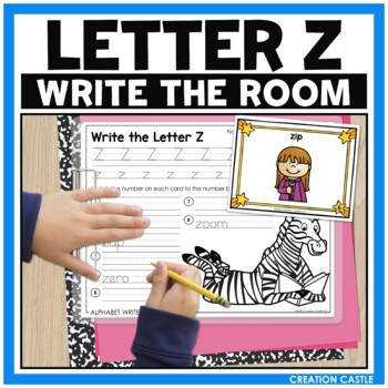 Alphabet Write the Room - Letter Z Mini Set