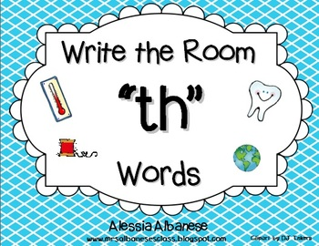 """Write the Room Literacy Center - """"TH"""" words"""