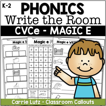 Hide and Find ~ Magic e {With Extension Activities}
