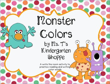 Write the Room: Monster Colors