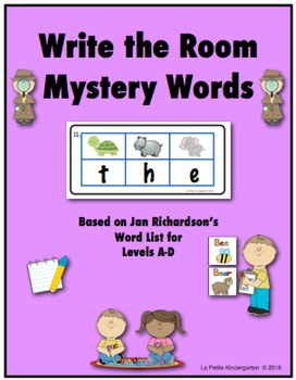 Write the Room Mystery Words