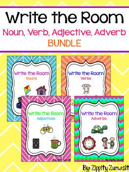 Write the Room - Noun, Verb, Adjective & Adverb Bundle