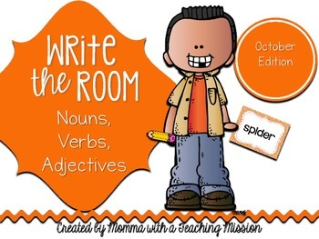 Write the Room : October Edition Nouns, Verbs, Adjectives