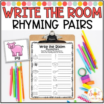Write the Room- Rhyming Pairs
