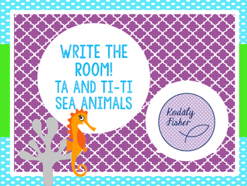 Write the Room Rhythmic Bundled Set - Sea Animals